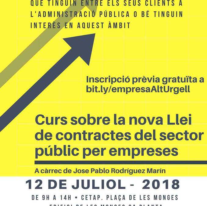 """Jornada """"Nova llei de contractes amb el sector públic"""""""