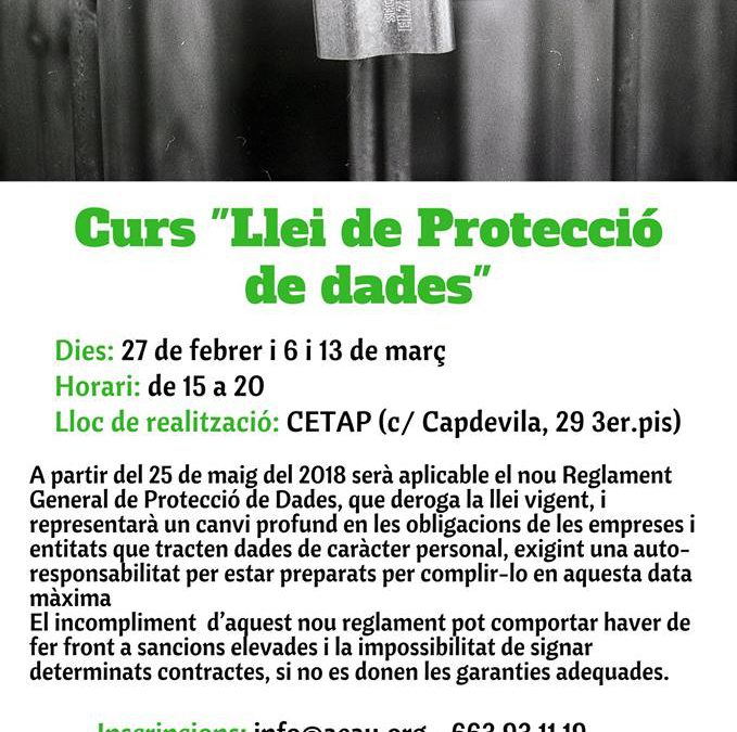 """Curs """"Llei de Protecció de dades"""""""