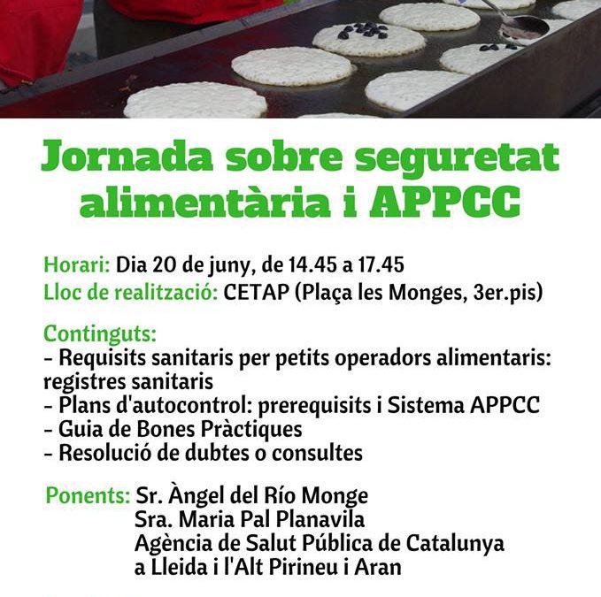 """Jornada """"Seguretat alimentària i APPCC"""""""