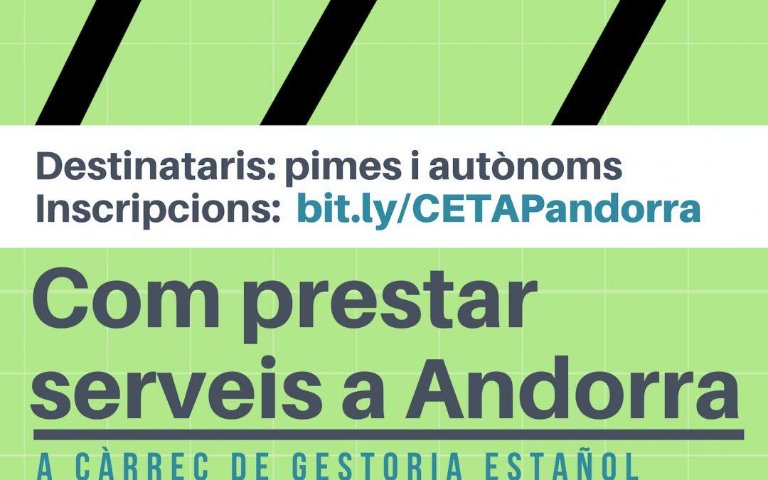 """Jornada """"Com prestar serveis a Andorra"""""""