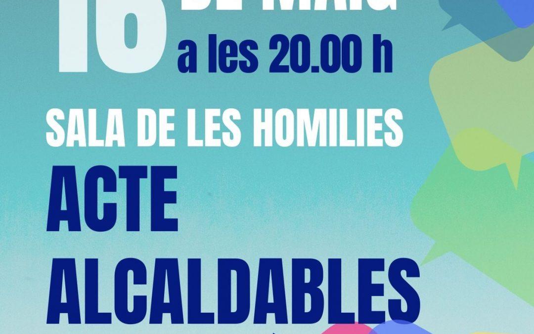 ACTE ALCALDABLES – ORGANYÀ  16 DE MAIG DE 2019 – SALA DE LES HOMILIES