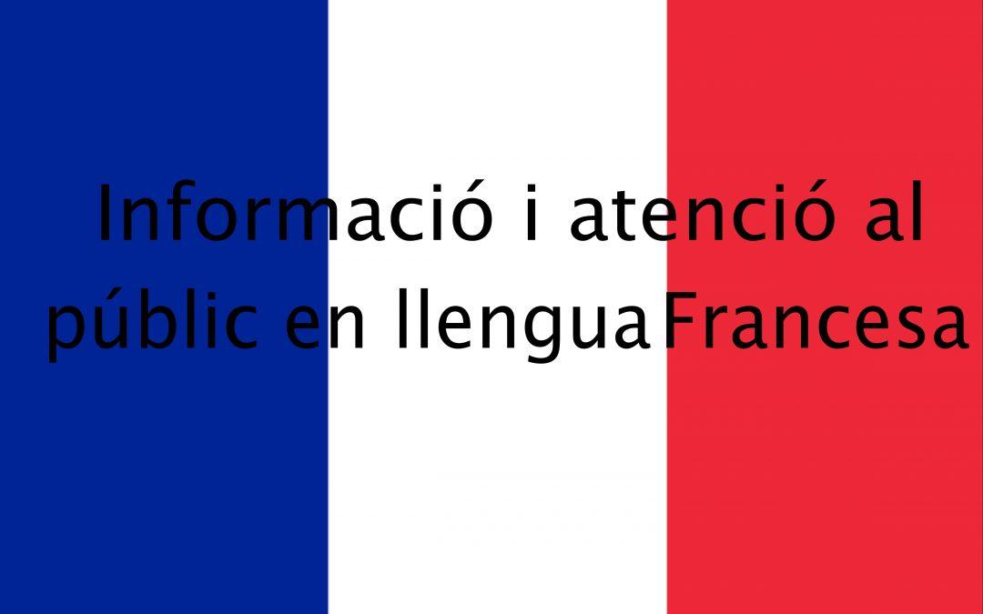 CURS · INFORMACIÓ i ATENCIÓ AL PÚBLIC EN LLENGUA FRANCESA